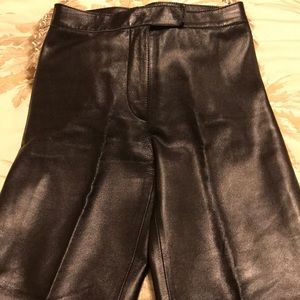 Bebe leather pants no pockets